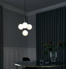 Nuura Miira 4 chandelier by Sofie Refer   Rock grey/opal white