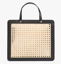 Classic Rattan Bag by Palmgrens | Black leather