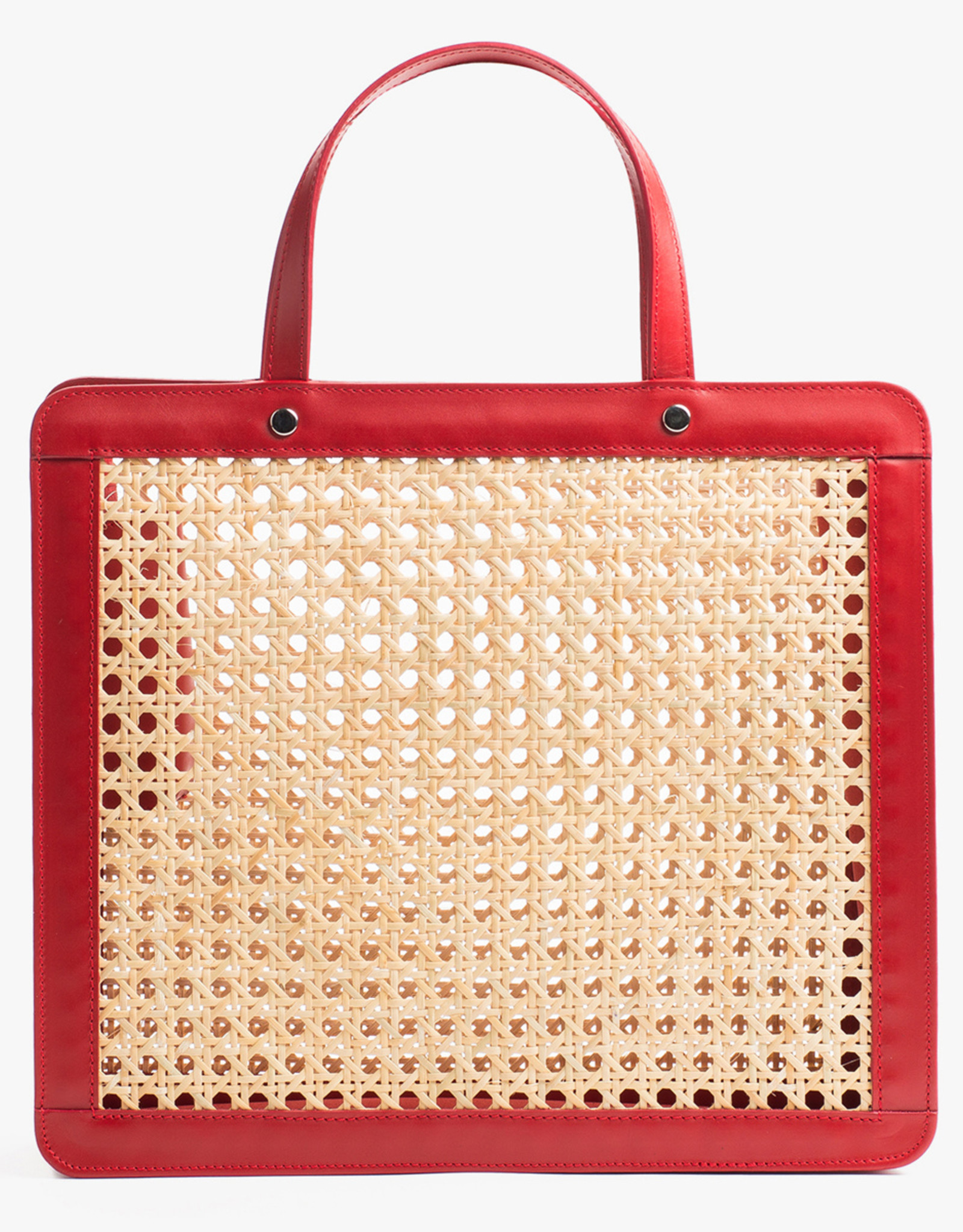 Classic Rattan Bag by Palmgrens | Red leather