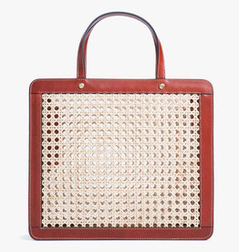 Classic Rattan Bag by Palmgrens   Cognac leather