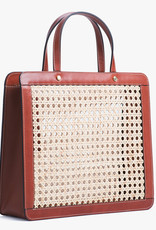 Classic Rattan Bag by Palmgrens | Cognac leather