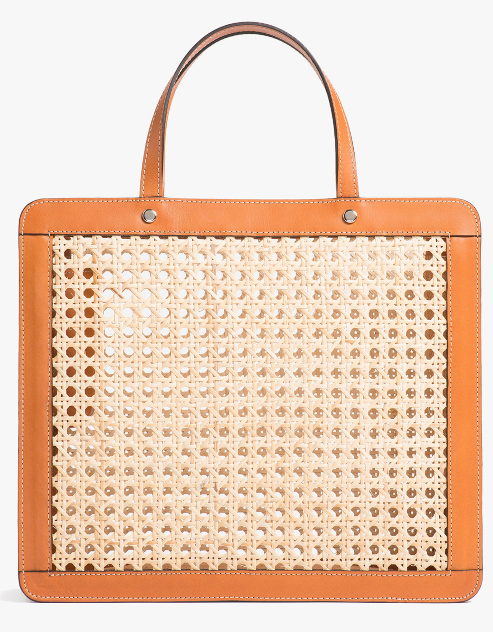 Classic Rattan Bag by Palmgrens | Tan leather