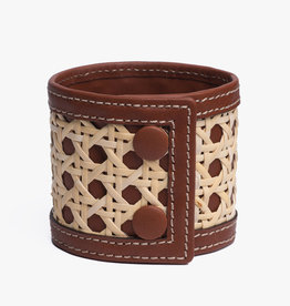Rattan Bracelet by Palmgrens | Cognac  leather
