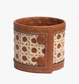 Rattan Bracelet by Palmgrens | Tan leather