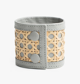 Rattan Bracelet by Palmgrens | Grey leather