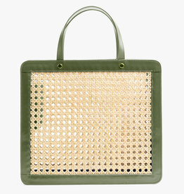 Classic Rattan Bag by Palmgrens | Olive leather
