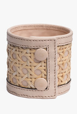 Rattan Bracelet by Palmgrens | Undyed leather