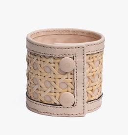 Rattan Bracelet by Palmgrens | Undyed leather