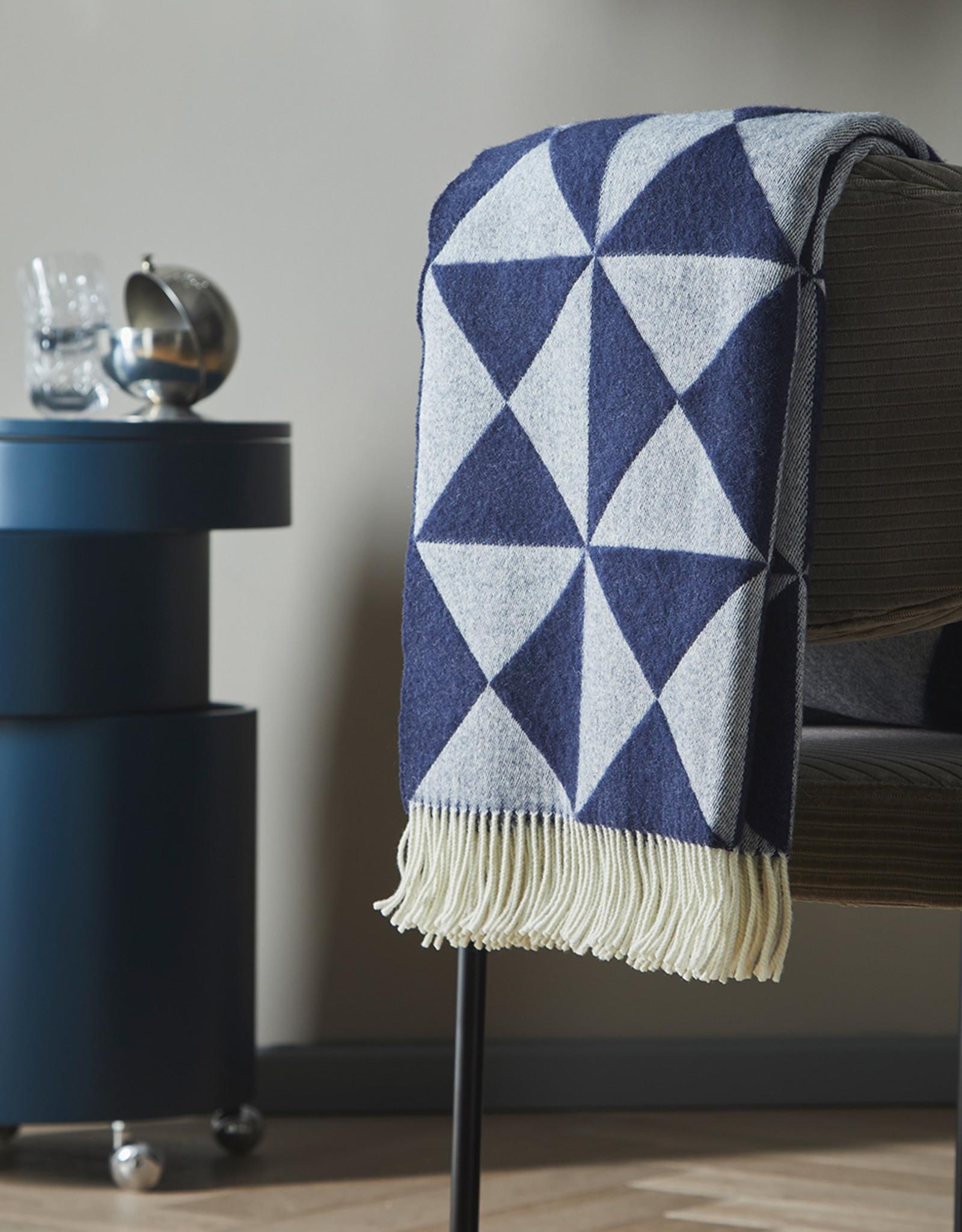 Mirror throw by Verner Panton | Blue | NZ wool |   L1980mm x W1300mm