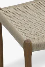 Møller 63 bench by N.O. Møller | Natural cord | Oiled walnut frame | L1500mm x W400mm x H460mm