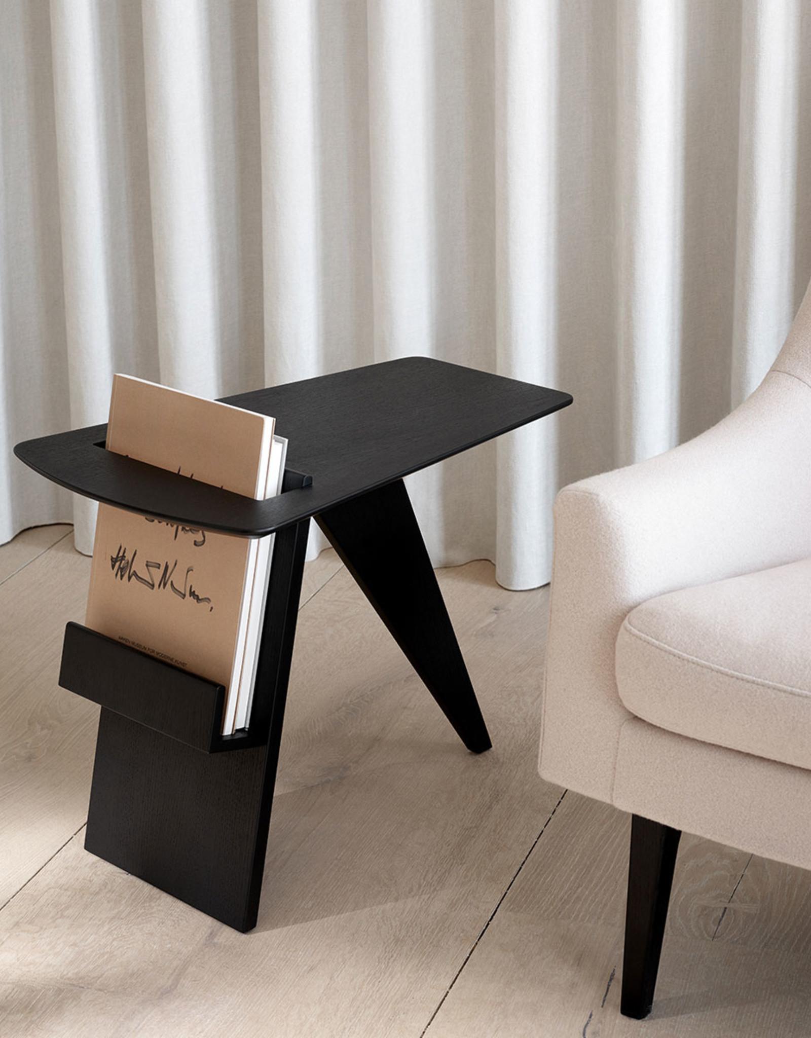 FREDERICIA Risom magazine table by Jens Risom |  Black lacquered oak