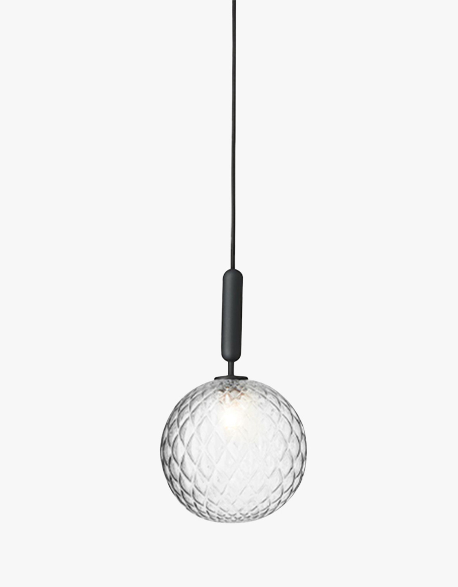 Nuura Miira 1 pendant by Sofie Refer | L | Rock grey/optic clear
