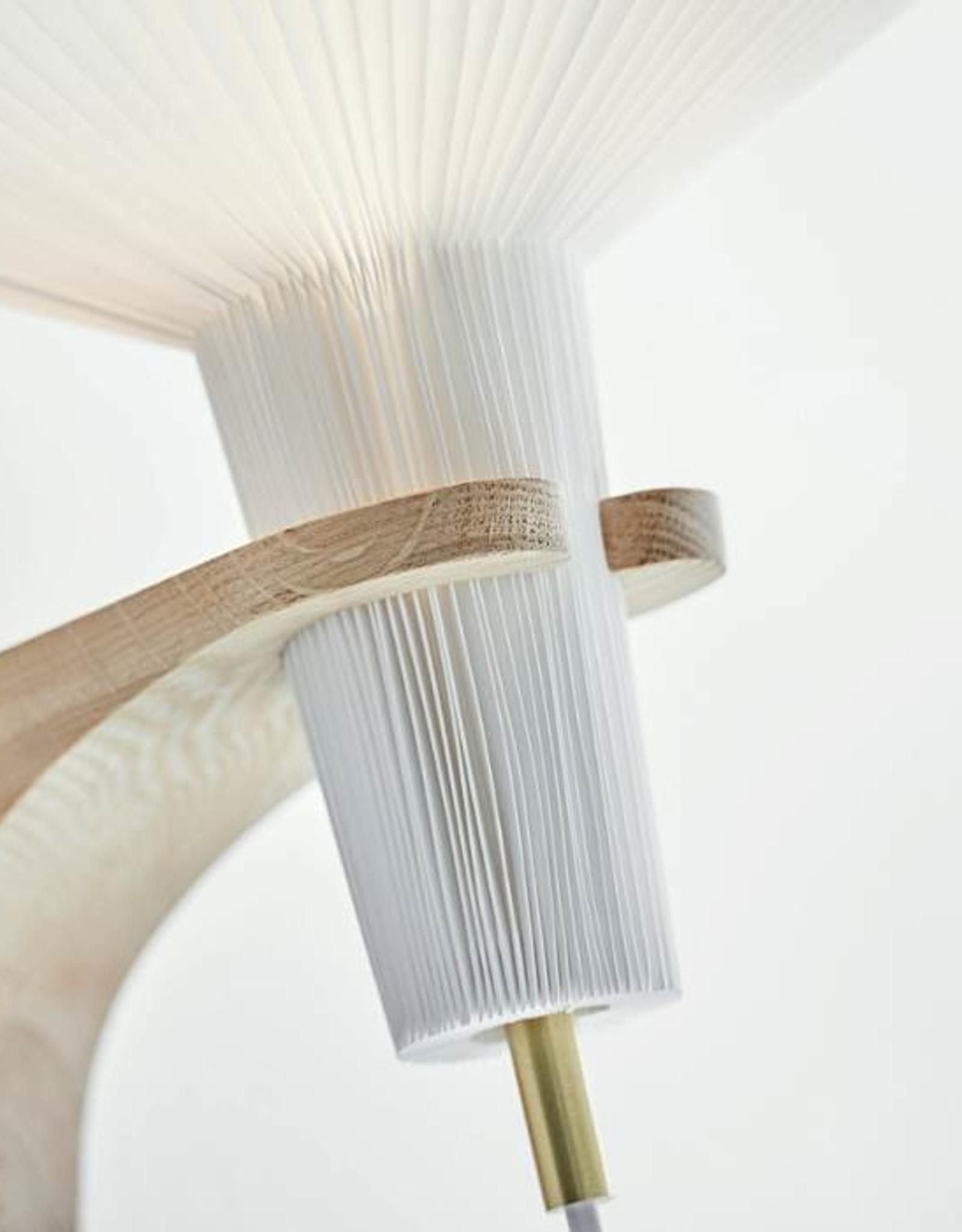 Mushroom 204 wall light by Vilhelm Wohlert | Plastic | Oak