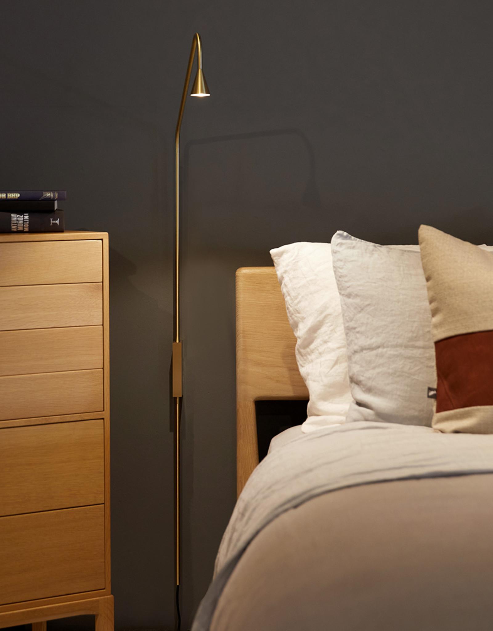 Austere-Wall plug light by Hans Verstuyft | Brass