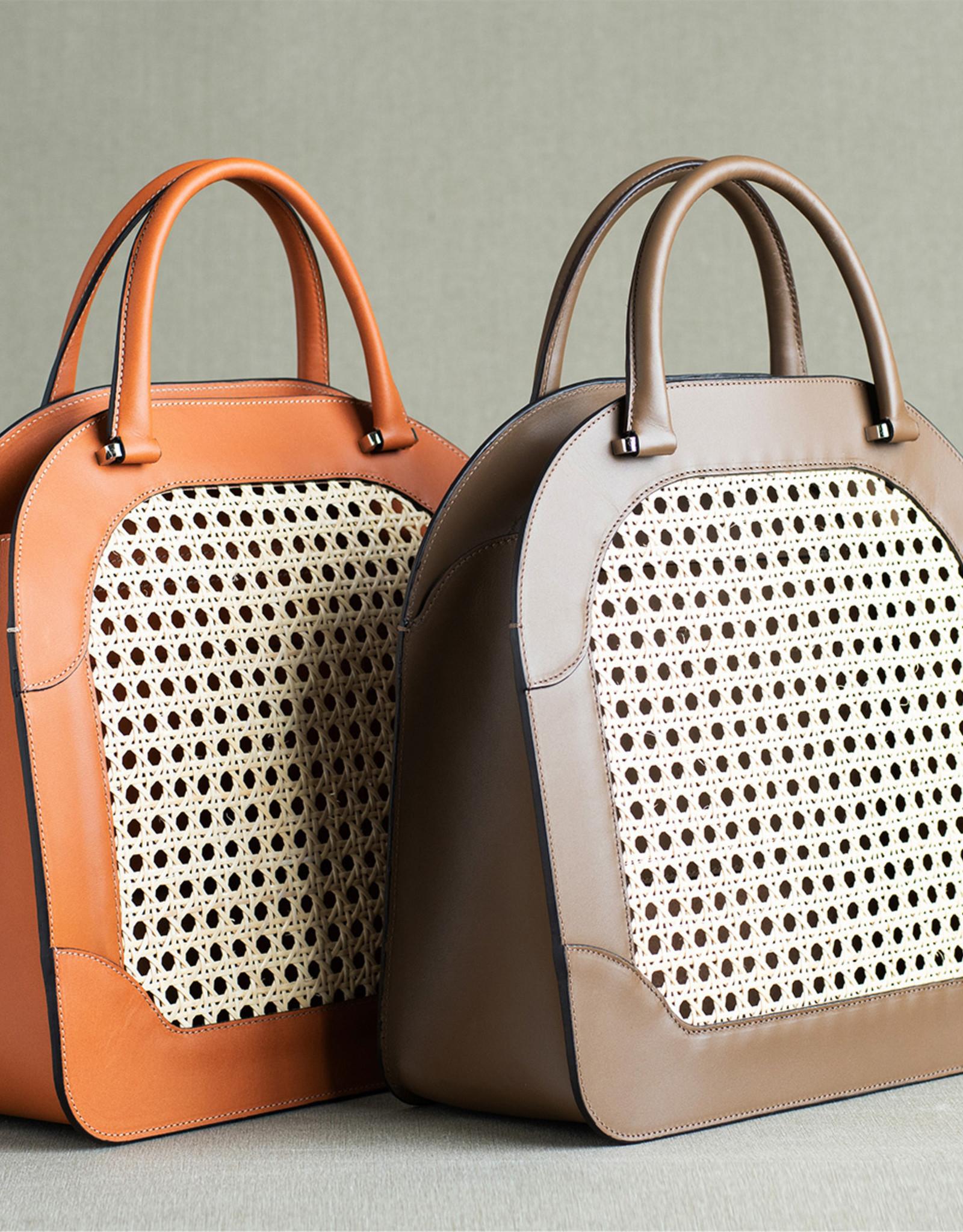 Rattan Bag 125 by Palmgrens | Tan leather