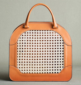 Rattan Bag 125 by Palmgrens | Tan leather