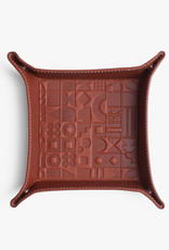 Medium Embossed Tray by Carl Cavallius for Palmgrens | Cognac leather