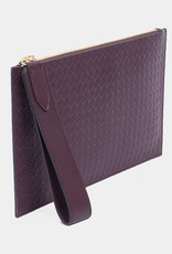 Flat Clutch Rattan Embossed by Palmgrens | Bordeaux leather