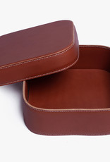 Extra Large Leather Box by Palmgrens | Cognac leather