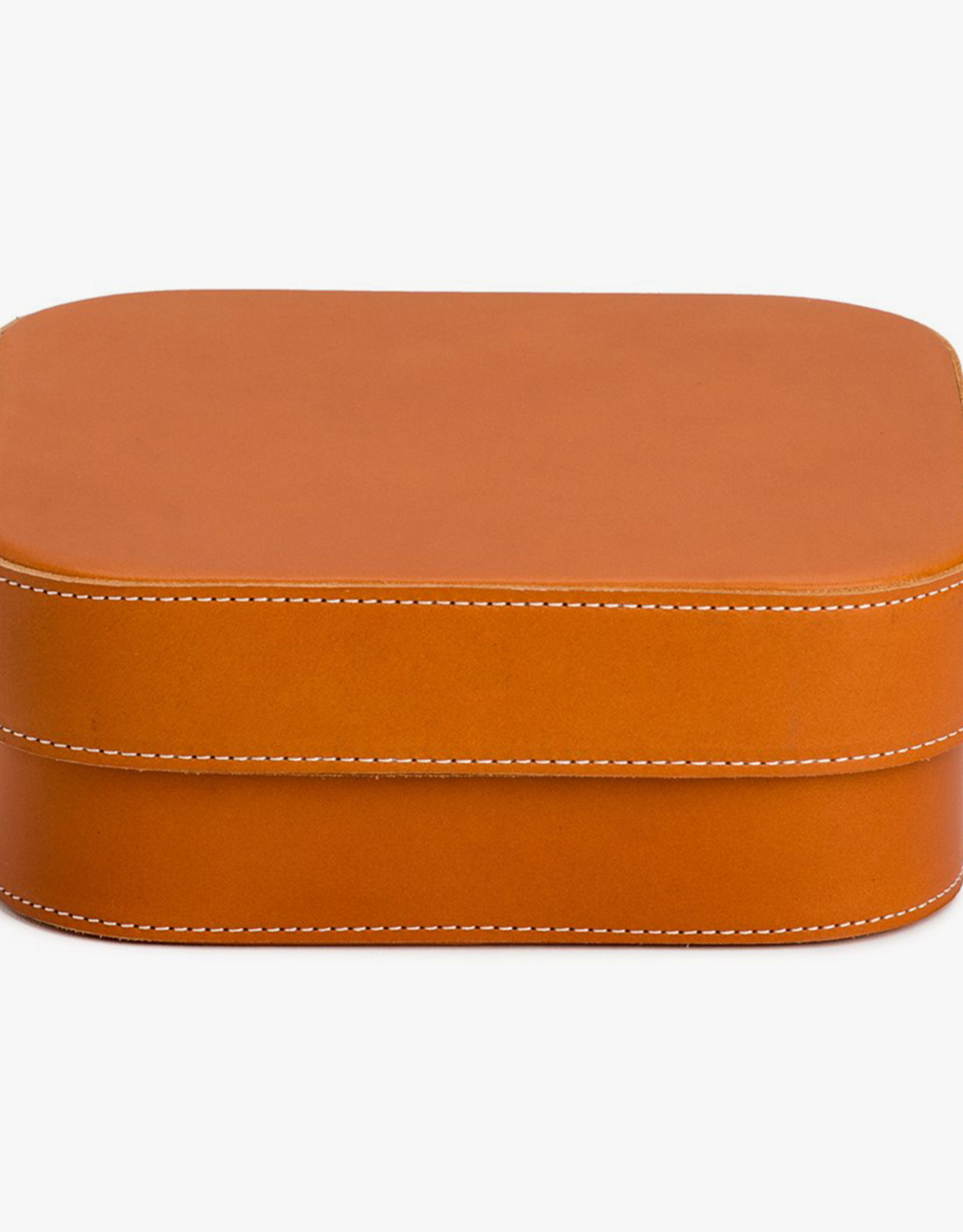 Extra Large Leather Box by Palmgrens | Tan leather