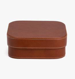 Large Leather Box by Palmgrens | Cognac leather
