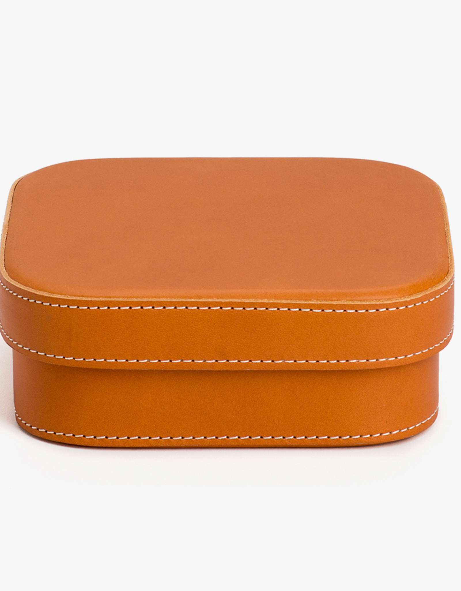 Large Leather Box by Palmgrens | Tan leather