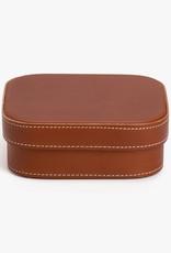 Medium Leather Box by Palmgrens | Cognac leather