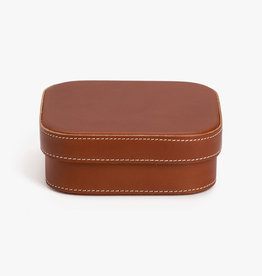 Medium Leather Box by Palmgrens | Cognac leather