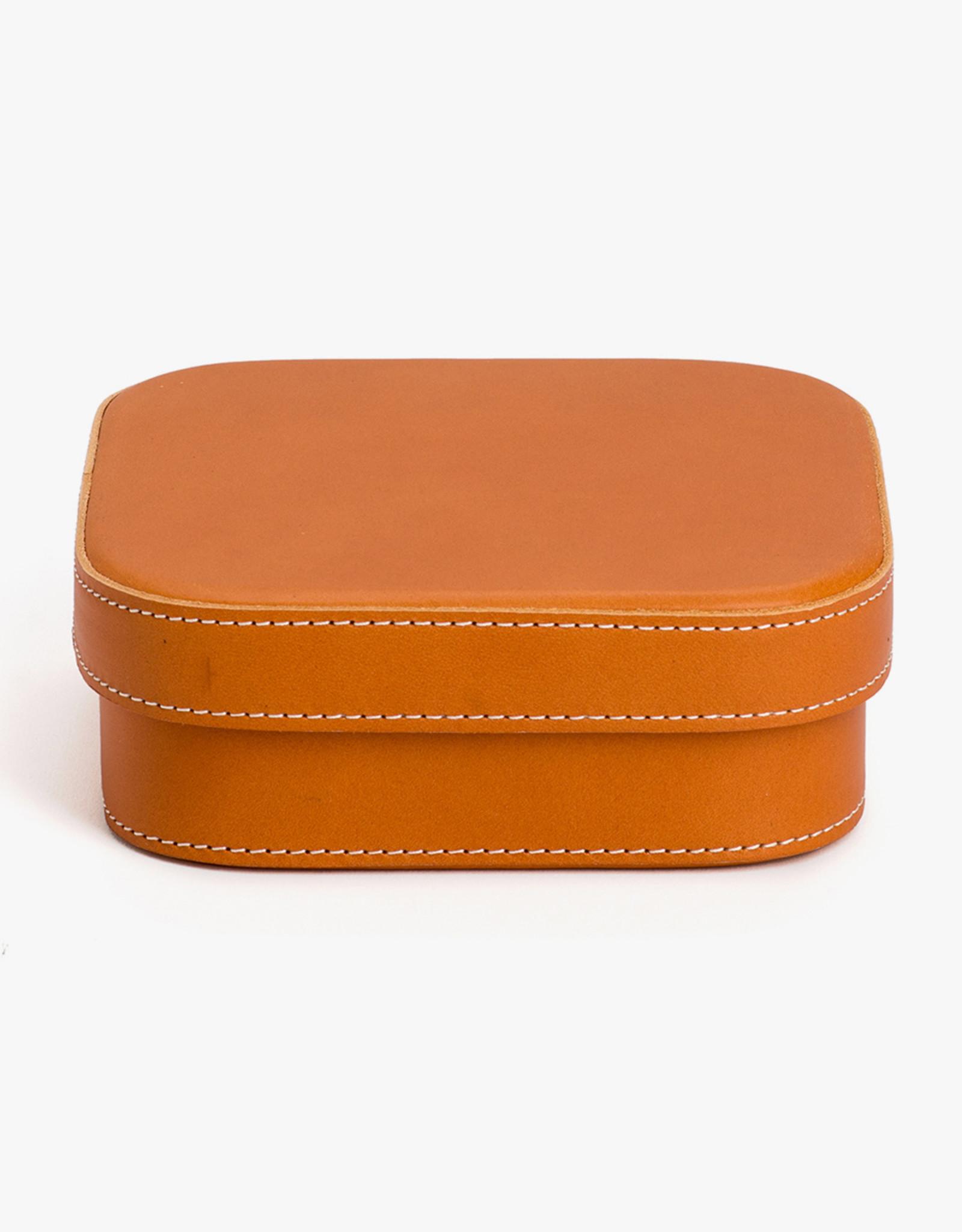 Medium Leather Box by Palmgrens | Tan leather