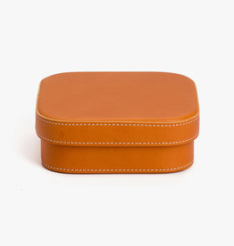 Medium Leather Box by Palmgrens | Tan leather