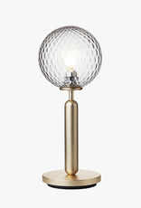 Nuura Miira table light by Sofie Refer   Brass/optic clear