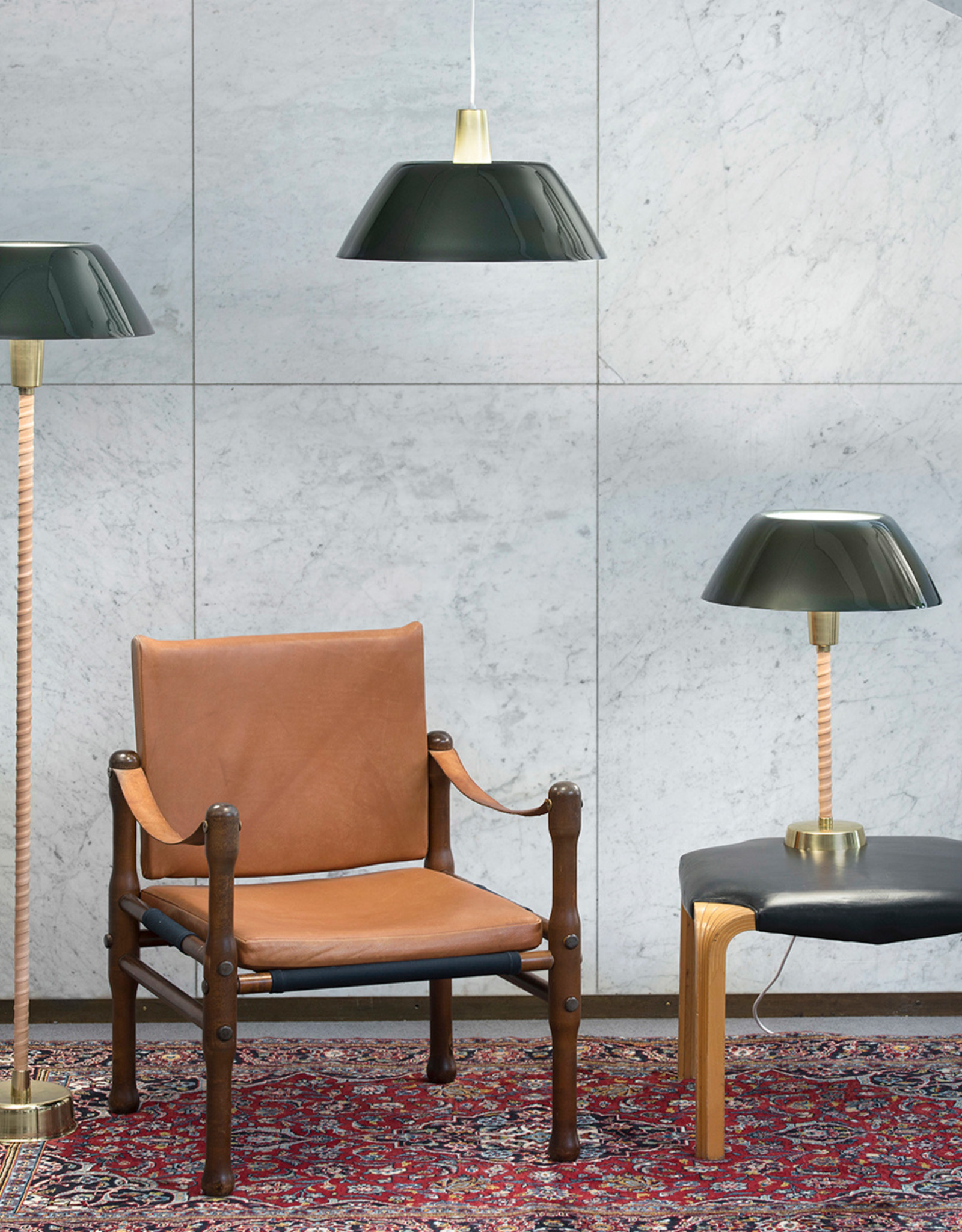 Senator floor lamp by Lisa Johansson-Papeand | Green