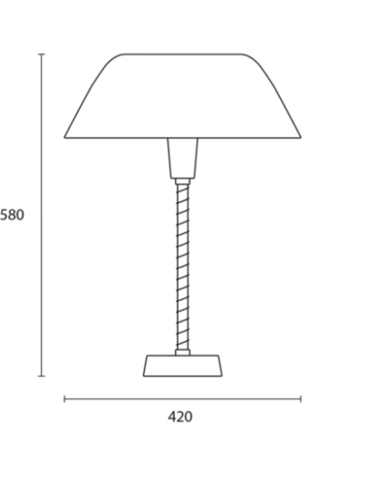 Senator table light by Lisa Johansson-Papeand   Graphite grey