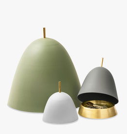 Gömma storage by Mattias Stenberg | Green aluminium lid | Brass tray | L