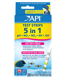 API 5 in 1 Aquarium Test Strips - 25 pk