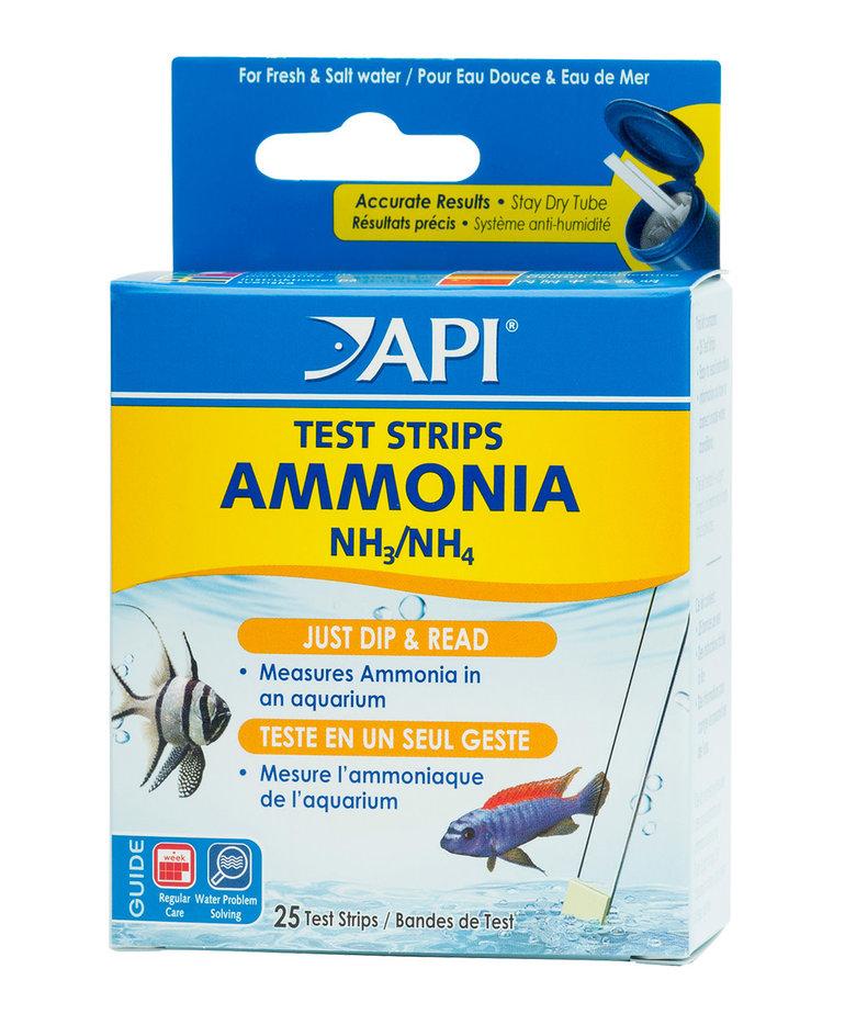 API Ammonia Aquarium Test Strips - 25 pk