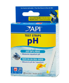 API pH Aquarium Test Strips - 25 pk