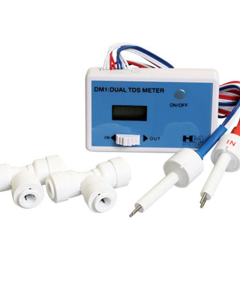 AQUAFX Dual Inline TDS Meter