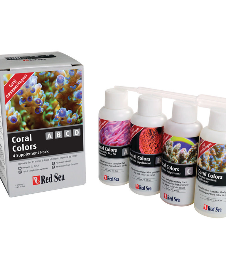 Red Sea RED SEA Coral Coloration ABCD Supplements - 3.4 fl oz - 4 pk