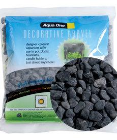 AQUA ONE Decorative Gravel - Black Ice - 500 g