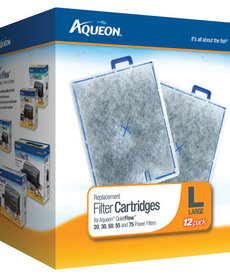 AQUEON Replacement Filter Cartridge For QuietFlow 20, 30, 50, 55, 75 - Large - 12 pk