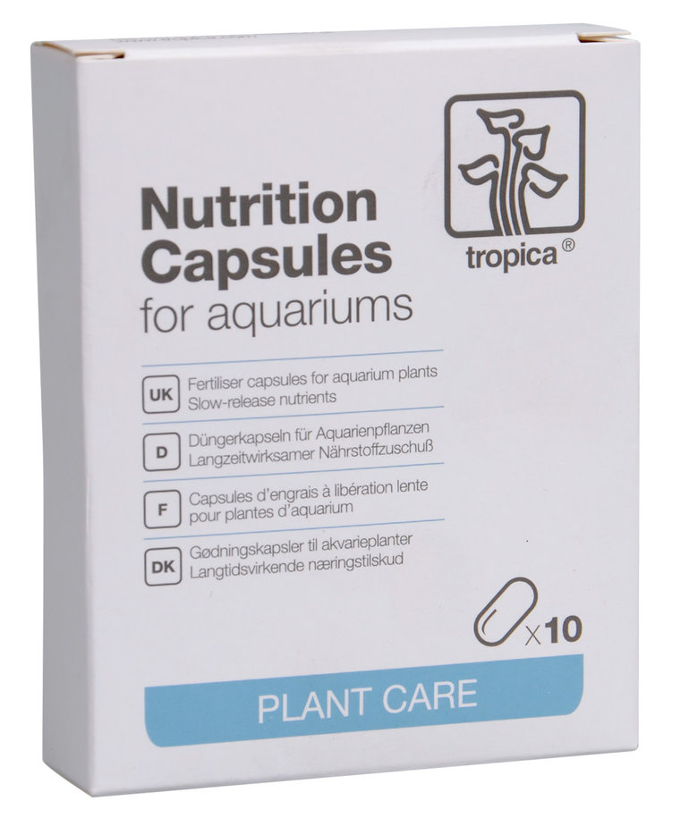 TROPICA Nutrition Capsules for Aquariums - x 10 pck