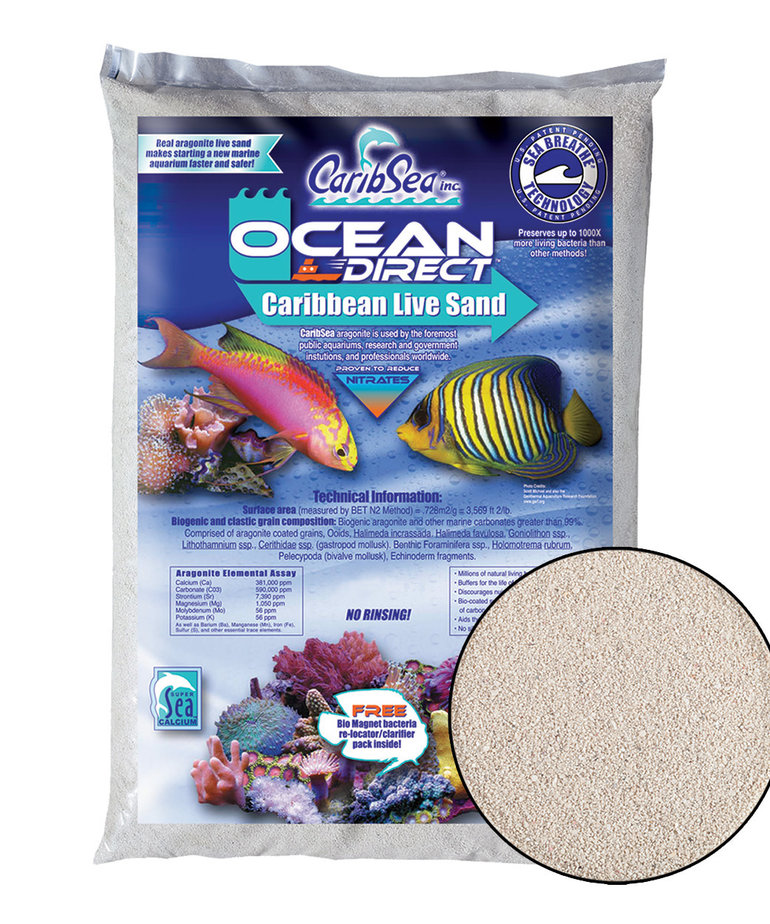 CARIBSEA Ocean Direct Live Oolite 20 lb