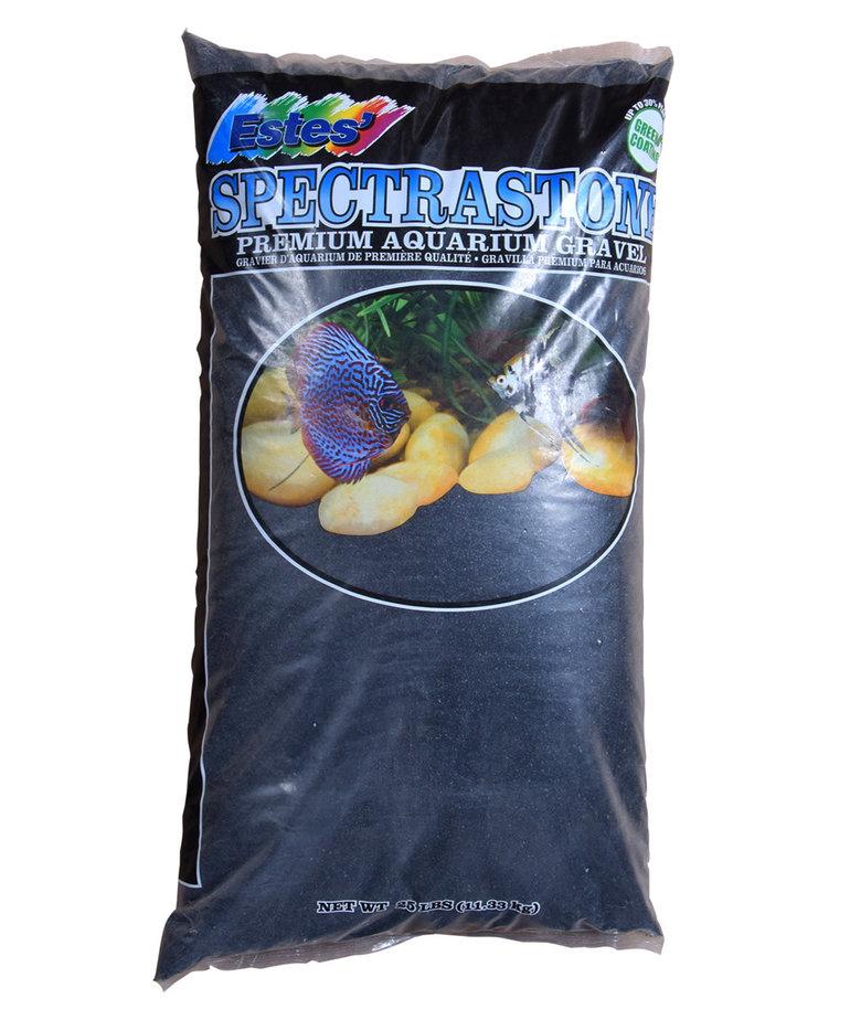 ESTES Stoney River Premium Aquarium Sand 25 lb - Black