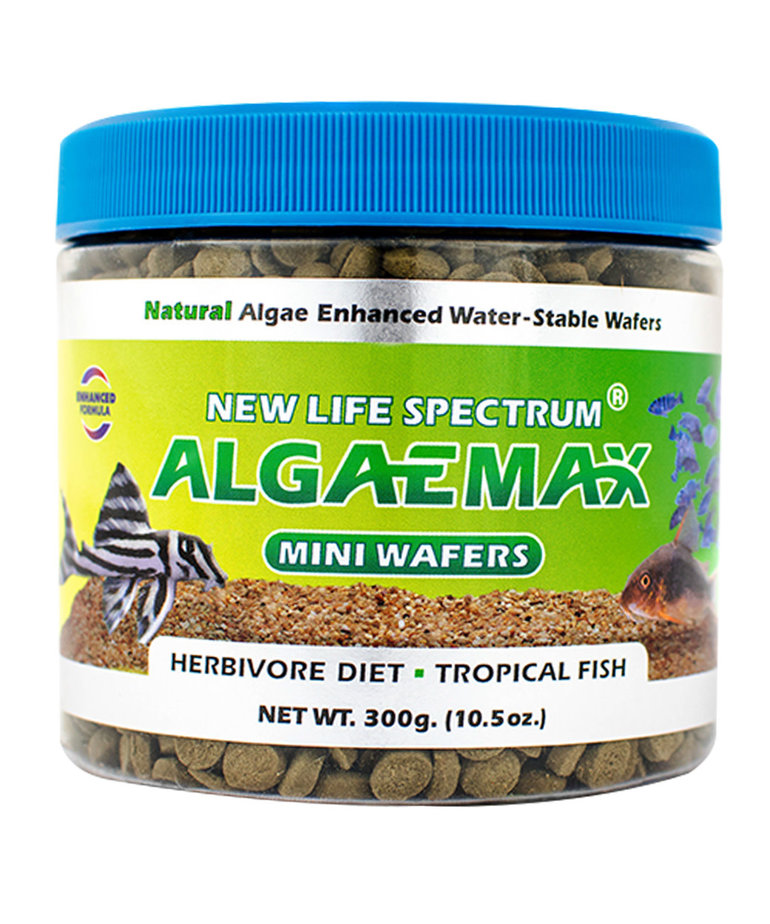 NEW LIFE SPECTRUM Algaemax Miniwafers - 7.5 mm Sinking Wafers - 300 g