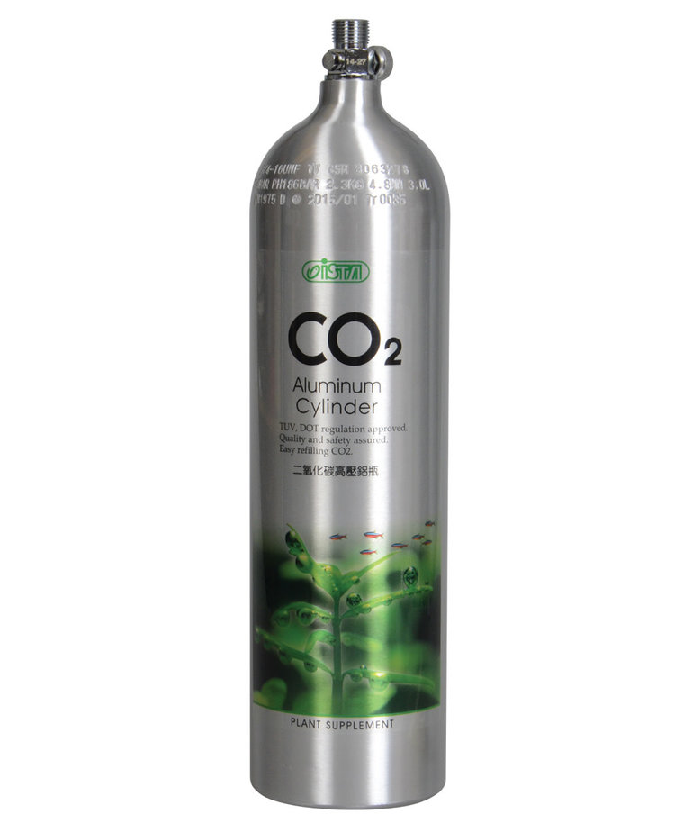 ISTA CO2 Aluminum Cylinder - 3L - Face Up