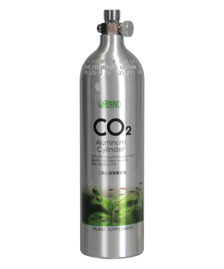 ISTA CO2 Aluminum Cylinder - 1L - Face Up