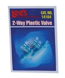 LEE'S 2-Way Plastic Valve - 2 pk