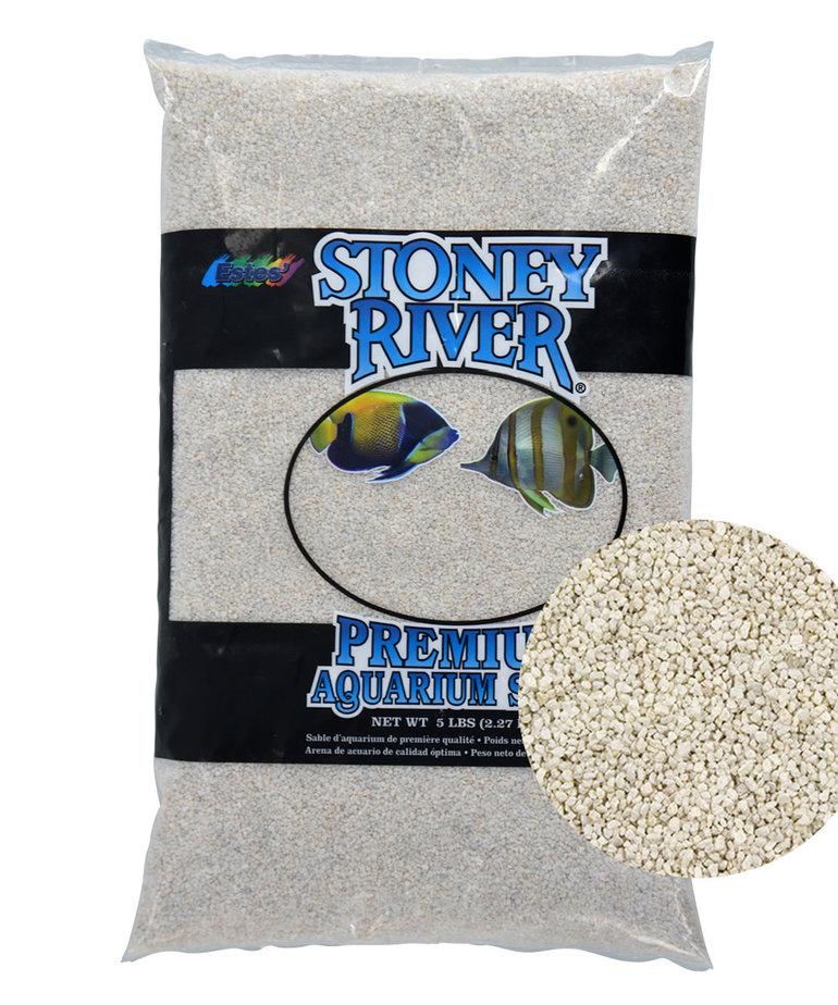 ESTES Stoney River Premium Aquarium Sand - White - 5 lb