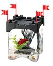 AQUEON Betta Castle Aquarium Kit - Black